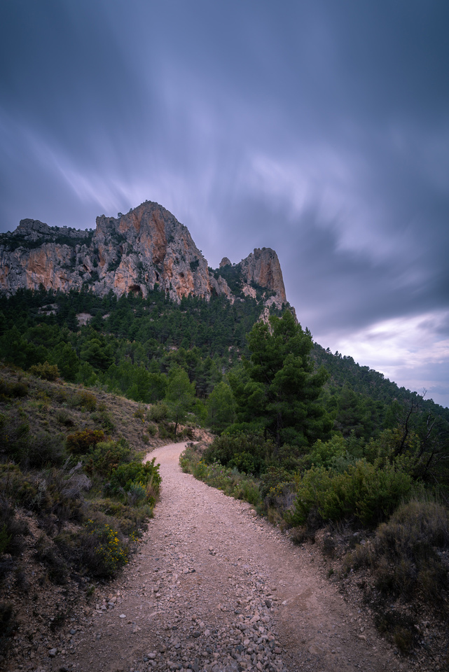 The Trail and the Clouds - Long Exposure